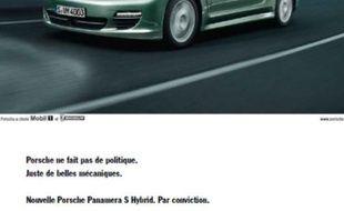 La nouvelle publicité de Porsche en mai 2011.