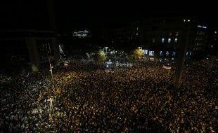 Plus de 200.000 personnes ont manifesté à Barcelone, le 17 octobre 2017.