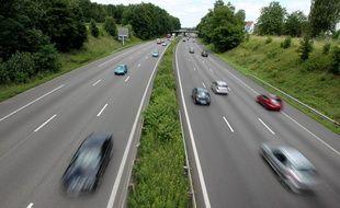 Strasbourg le 11 07 2012. Circulation sur l'autoroute A4 à l'entrée de Strasbourg