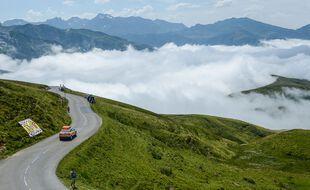 Le Tourmalet lors de la 19e étape du Tour de France, en juillet 2018.