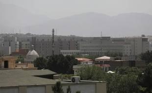 Les bâtiments de l'ambassade américaine à Kaboul, en Afghanistan, le samedi 14 août 2021.