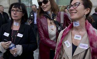 Les salariés de Lagardère Active en grève le 21 octobre 2013.