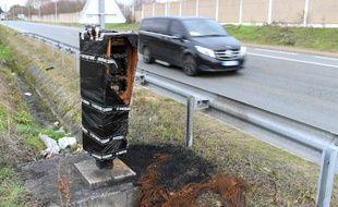 Un radar endommagé sur la D30, dans les Yvelines.