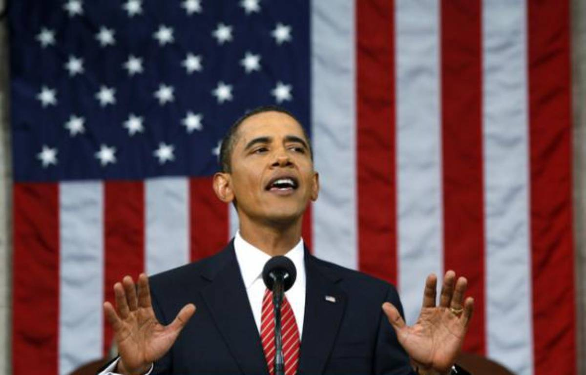 Le président américain, Barack Obama, présente son plan de réforme du système de santé devant le Congrès, le 9 septembre 2009.    – REUTERS/Jason Reed
