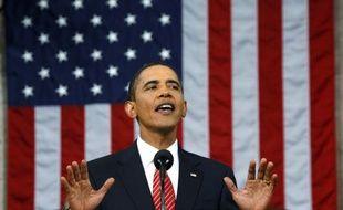 Le président américain, Barack Obama, présente son plan de réforme du système de santé devant le Congrès, le 9 septembre 2009.