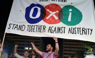 Des partisans du non au référendum à Athènes le 5 juillet 2015