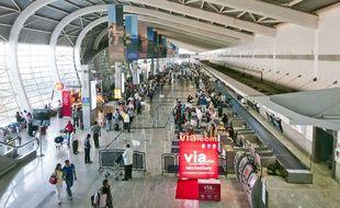 Un terminal de l'aéroport international Chhatrapati-Shivaji, à Bombay.