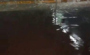 L'accès à la station de métro Marengo, à la gare Matabiau, victime des inondations le 5 juin 208.