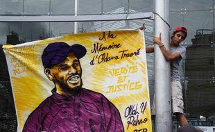 Manifestation en réaction à la mort d'Adama Traoré, in Paris, le 30 juillet 2016.