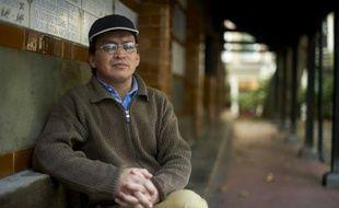 Le militant et blogueur pakistanais Liaquat Ali Hazara, porte-parole de la cause des Hazaras, minorité chiite musulmane persécutée, le 29 septembre 2015 à Londres