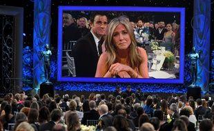 Apparition de Jennifer Aniston sur l'écran géant des SAG 2015
