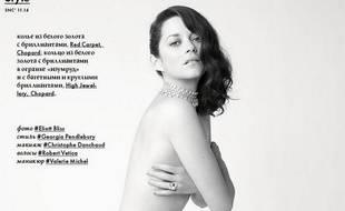 Marion Cotillard a posé nue en Une d'un magazine russe, pour le photographe Eliott Bliss