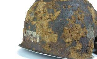 Le casque de Jack Shea, parachutiste américain décédé lors du débarquement en juin 1944.
