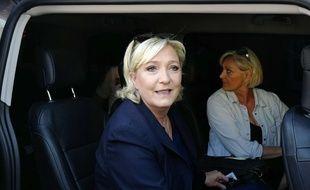 Marine Le Pen, photographiée le 18 juin 2017 lors du second tour des élections législatives.