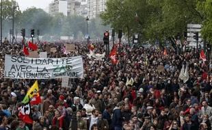 La manifestation du 1er-Mai à Paris, en 2018.