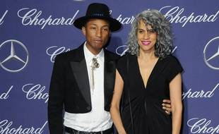 Pharrell Williams et Helen Lasichanh à Palm Springs