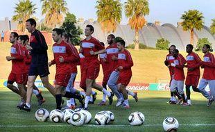 La sélection américaine lors de son entraînement à Pretoria le 21 juin 2010.