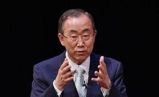 Le secrétaire général de l'ONU Ban Ki-moon, à New York, le 20 juin 2014