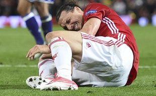 Zlatan s'est blessé contre Anderlecht à Old Trafford