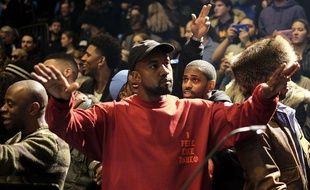 Kanye West lors de l'ouverture de la Fashion Week à New York le 11 février 2016