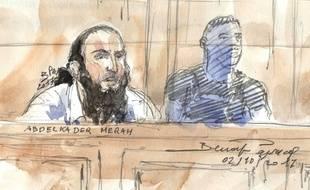 Abdelkader Merah le 2 octobre 2017 devant la cour d'assises spécialement composée de Paris.