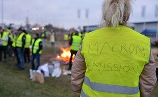 Illustration des manifestations des «gilets jaunes». Ici, dans l'Isère, le 17 novembre 2018.