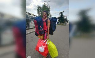 Julie recherche désespérément ses sacs volés à Toulouse le 1er juillet 2019.