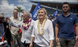 Marine Le Pen à Mayotte en 2016.