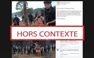 Ces deux photos datent de 2008 et ne sont pas liées à la construction du barrage Belo Monte.