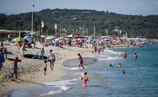 La plage de Pampelonne, à Ramatuelle, dans le Var, le 10 juillet 2021.