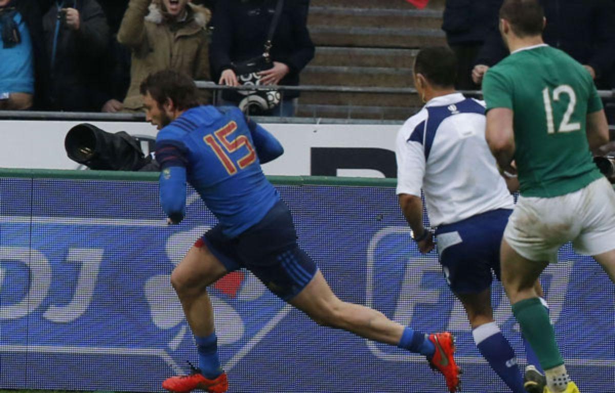 Maxime Médard a délivré les Bleus contre l'Irlande.  –  Michel Euler/AP/SIPA