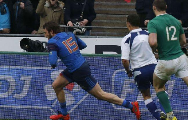 Maxime Médard a délivré les Bleus contre l'Irlande.
