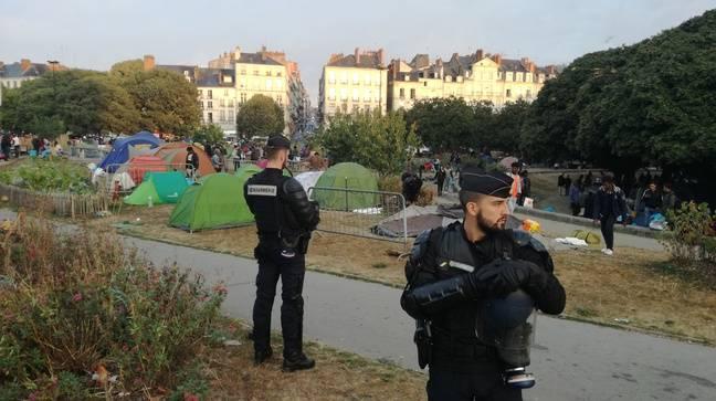 L'évacuation du square Daviais à Nantes, le 20 septembre 2018