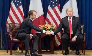Emmanuel Macron et Donald Trump, le 24 septembre 2018 à New York.