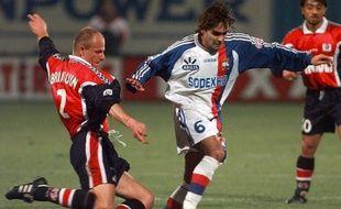 Reynald Pedros a disputé 15 matchs de Ligue 1 sous le maillot lyonnais, lors de la saison 1997-98.