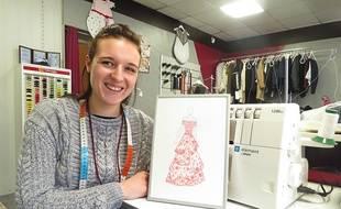 La Nantaise Laura Paul, 23 ans, a créé le costume régional de Miss Pays de loire