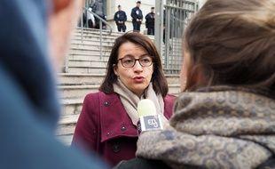 La députée écologiste Cécile Duflot, mercredi, devant le palais de justice de Nice