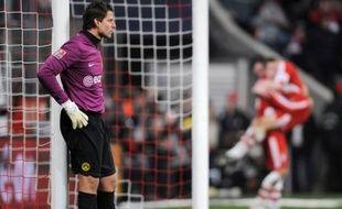 Roman Weidenfeller, le gardien de Dortmund, lors d'un match face au Bayern Munich, le 8 février 2009.