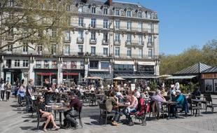 La place du Commerce à Nantes.