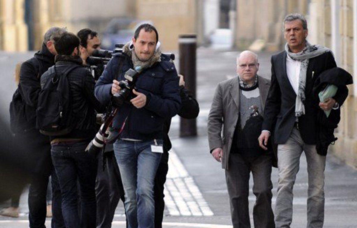 Henri Leclaire, à son arrivée au palais de justice de Metz, le 1er avril 2014. – JEAN-CHRISTOPHE VERHAEGEN / AFP
