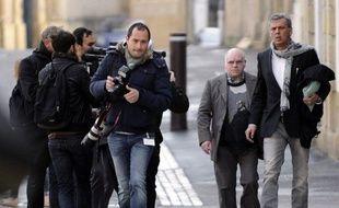 Henri Leclaire, à son arrivée au palais de justice de Metz, le 1er avril 2014.