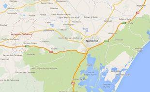 Vue Google Maps de Lézignan-Corbières.