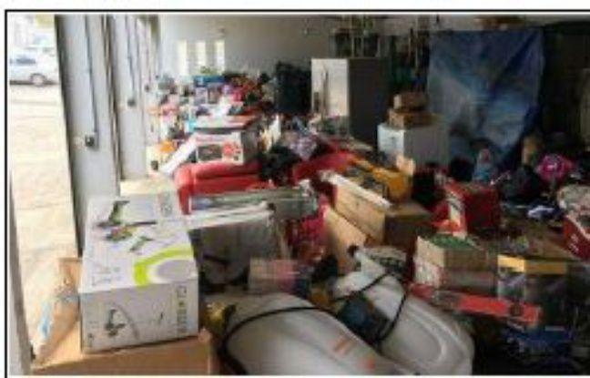 40 mètres cubes de marchandises ont été retrouvés