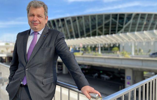 Franck Goldnadel, nouveau président des Aéroports de la Côte d'Azur, le mardi 20 octobre 2020 à l'aéroport de Nice