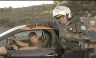 Capture d'écran de la nouvelle publicité Citroen avec Sebastien Loeb