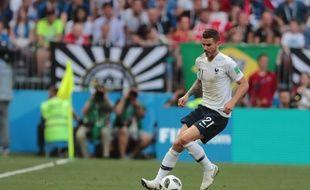 Lucas Hernandez lors de France-Danemark en Coupe du monde, le 26 juin 2018.