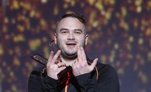Le rappeur Jul lors des Victoires de la musique.