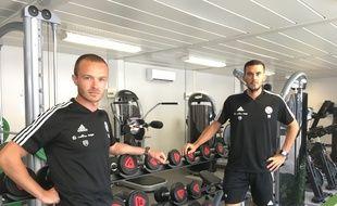 Guillaume Jahier (à gauche) et Florian Bailleux, les deux préparateurs physiques du Racing.