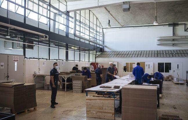 Les ateliers de travail ont repris le 25 mai après deux mois d'arrêt à la prison de Fleury-Mérogis.