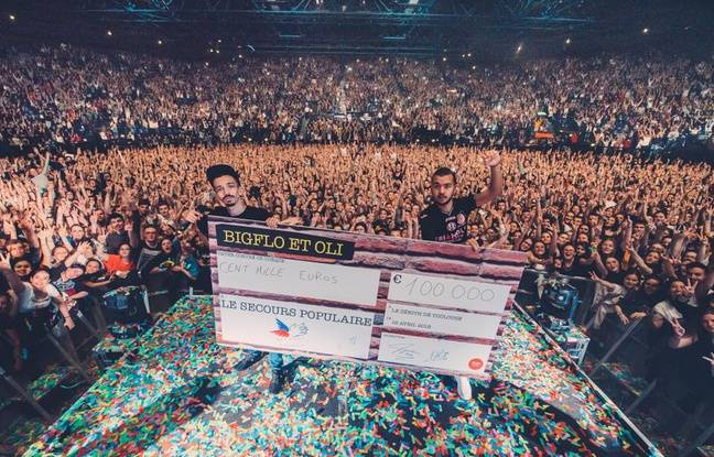 Après leurs concerts à Toulouse, Bigflo & Oli reversent 100.000 euros au Secours populaire
